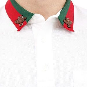 bc1320b8ad1 Gucci Shirts - 🔥Gucci web design bee collar polo shirt men